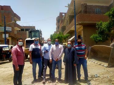 حملة تعقيم وتطهير بقرية صنبو بقيادة الوحدة المحلية وشباب القرية.