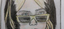 لوحة وجه المطربة أمريكية (بيلي ايلش)- للفنانة ريم المقداد
