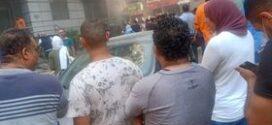 حريق هائل بمستشفى الجزيزه بشارع فيصل.