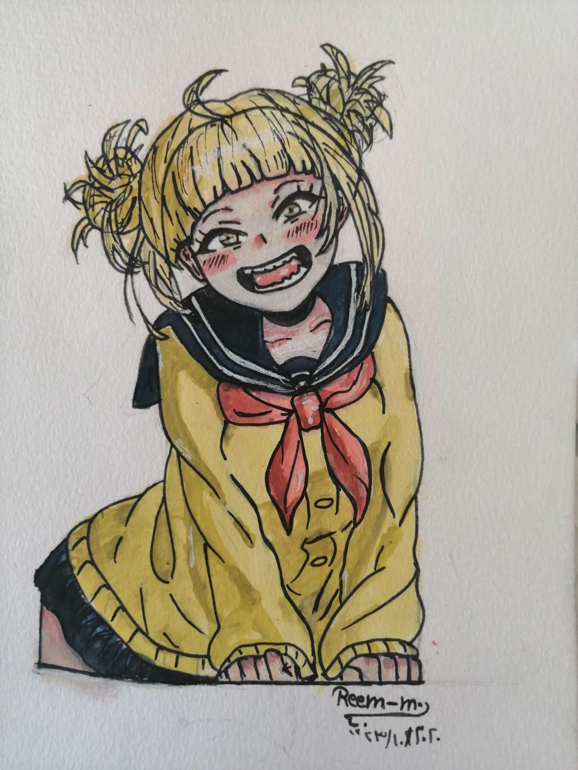 لوحة الطفلة الخائفة (إينمي) للفنانة ريم المقداد