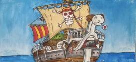 لوحة سفينة (ون بيس) .. للفنانة ريم المقداد