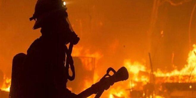 حريق ضخم بمعهد صقر قريش الأزهري في المعادي.